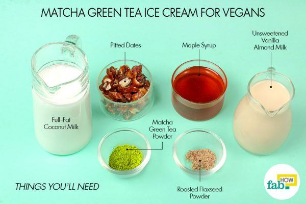things you will need to make vegan matcha ice cream