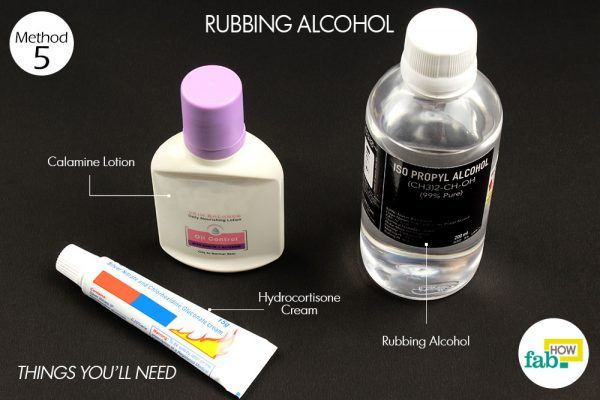 rubbing alcohol for poison ivy rash things need