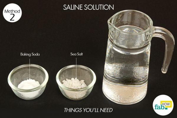 saline solution stuffy nose things need