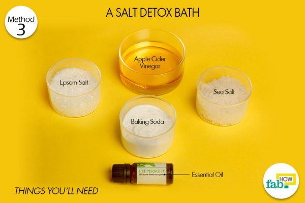 salt detox bath to detoxify body things need