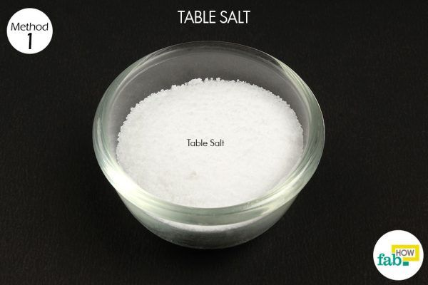 table salt poison ivy things need