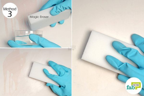 use magic eraser on the stain