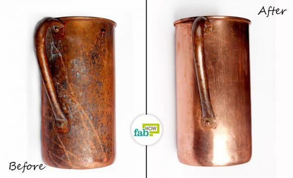 before after cleaning cookware