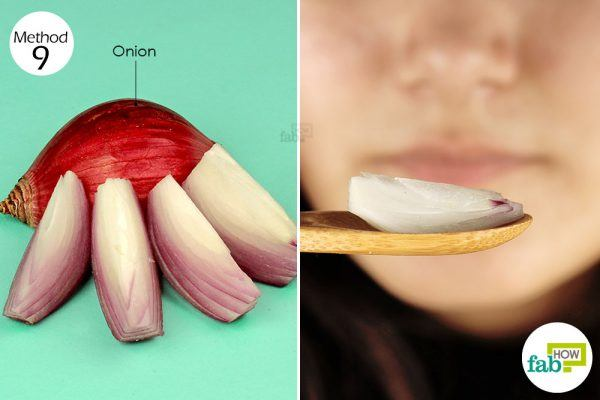 chew raw onion for relief from toothache