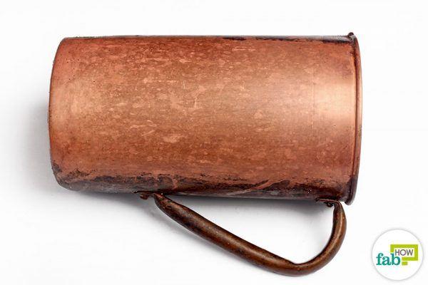 clean copper surface
