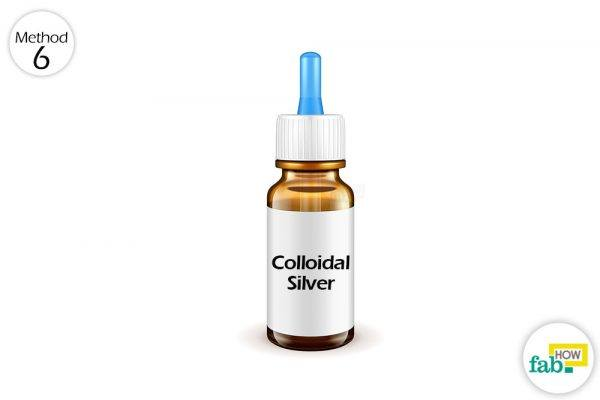 collodial silver to get rid of pink eye