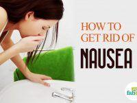 `get rid of nausea