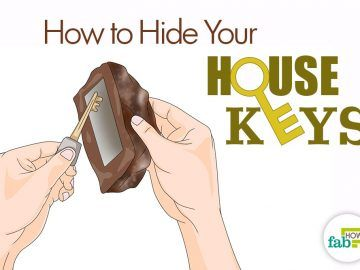 how to hide your spare house keys