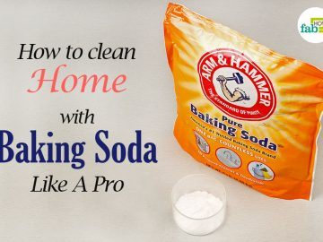 clean home with baking soda