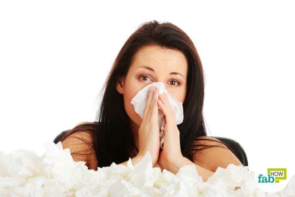 get rid of runny nose