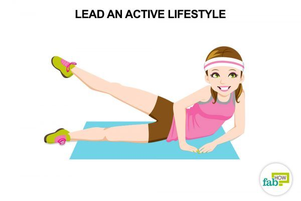 lead an active lifestylel to reduce stress