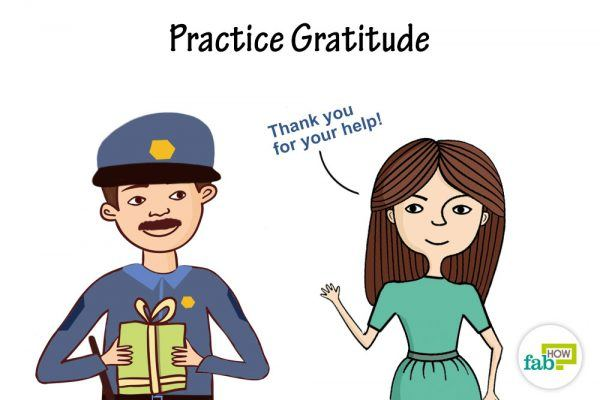 practice gratitude to be humble