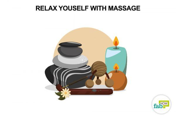massage to de-stress