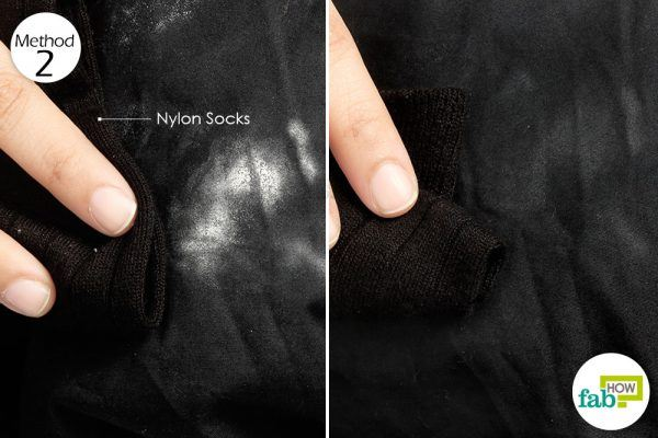 rub the deo stain with nylon clothing