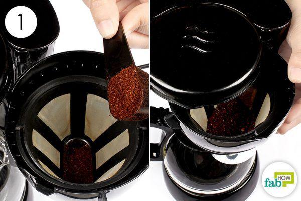 add coffee to coffee maker