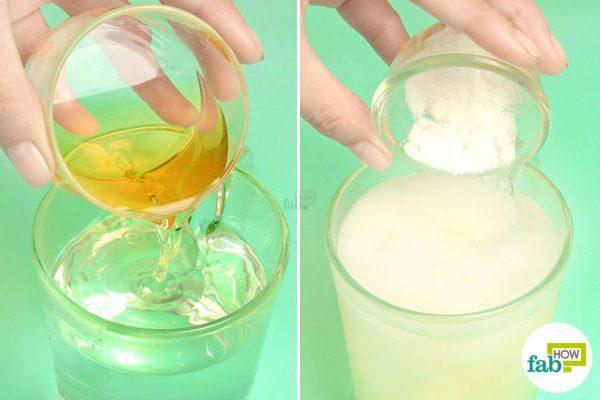 combine apple cider vinegar and baking soda in water for acid reflux