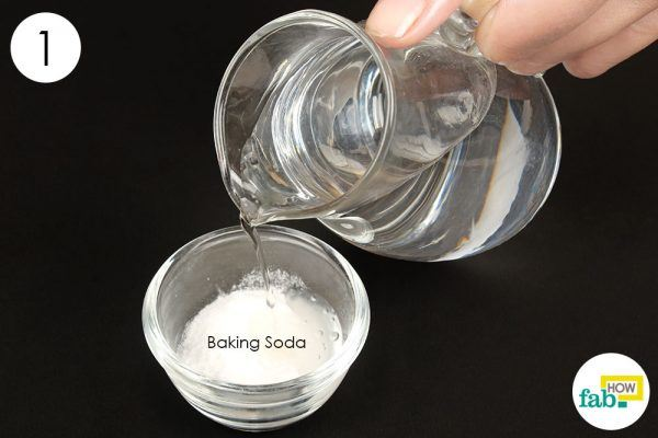 mix baking soda with hydrogen peroxide
