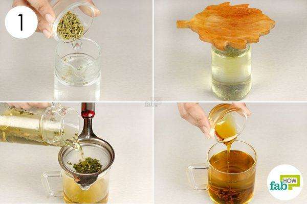 make sage tea to get rid of runny nose
