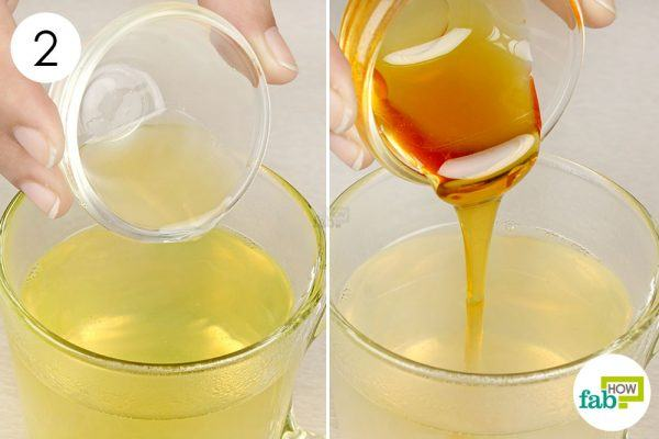 add lemon juice and honey to ginger tea for runny nose