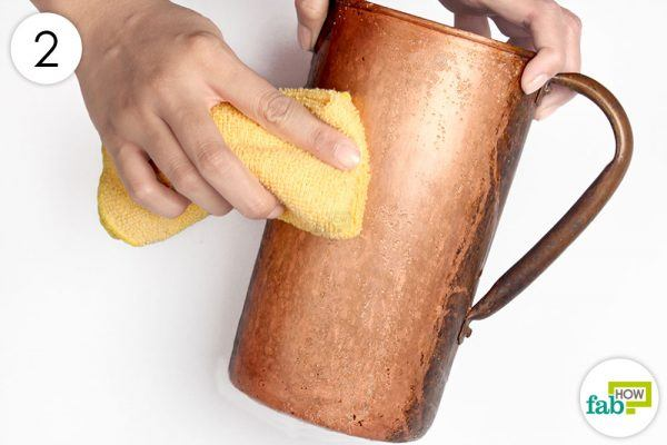 buff the copper with towel to restore shine