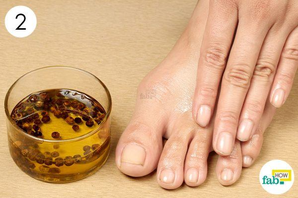 oil massage for chilblains