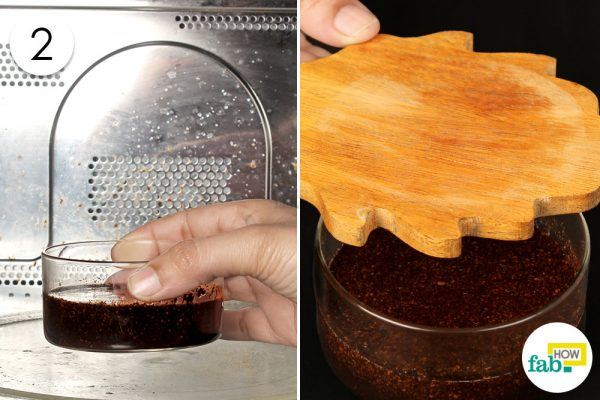 steep the coffee grounds in coconut oil to make diy lip balm