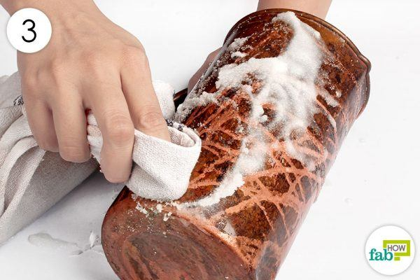 buff the surface with a towel