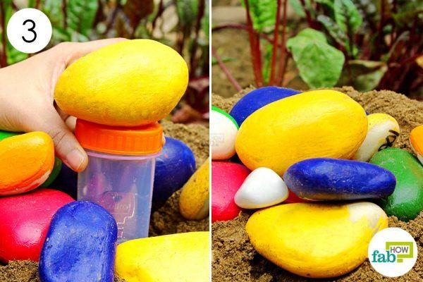 hide the pill bottle in your garden