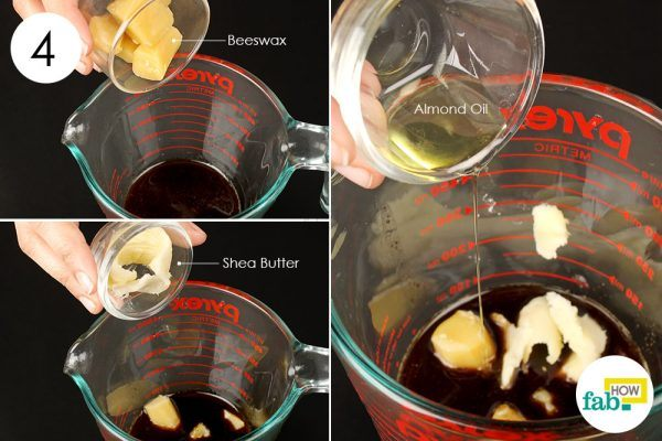 add butters to make diy lip balm