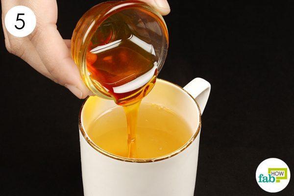 add honey to ginger tea