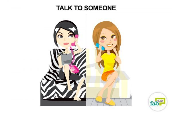 talk to someone to reduce stress