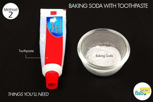 things need for whitening teeth with baking soda