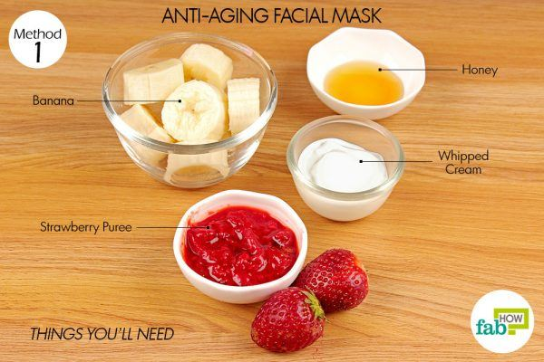 things-you-ll-need-for-strawberry-banana-anti-aging-facial-mask