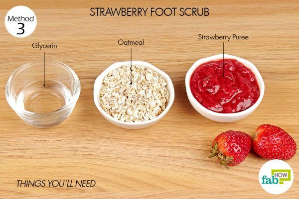 things-you-ll-need-for-strawberry-foot-scrub