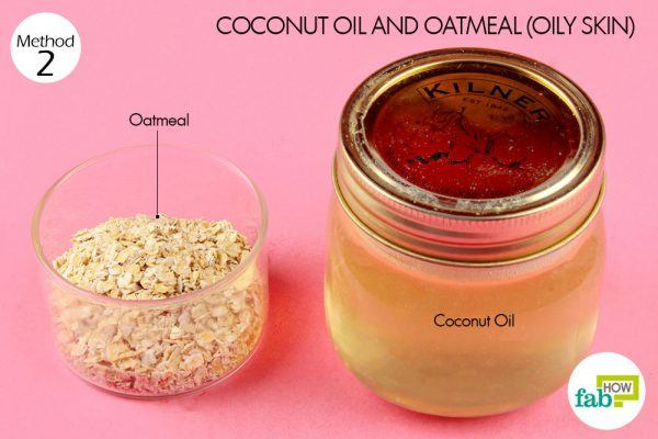 coconut oil and oatmeal for deep cleansing