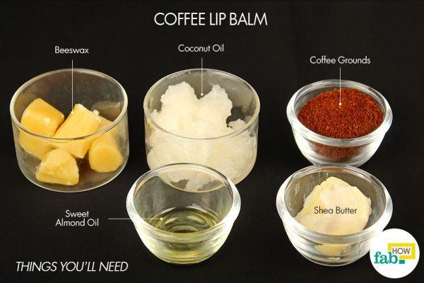 coffee lip blam things need