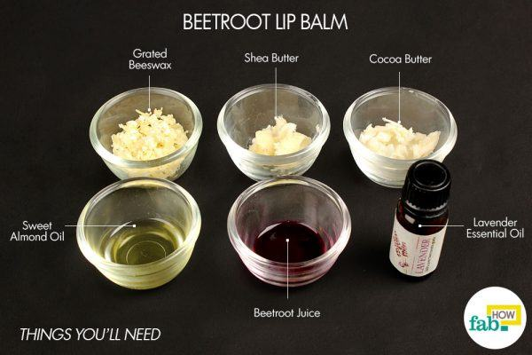 beetroot diy lip balm