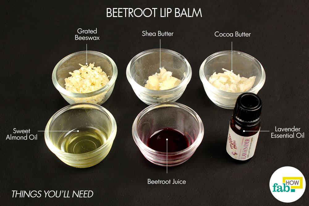 beetroot diy lip balm. Grated beeswax – 1 tablespoon ...