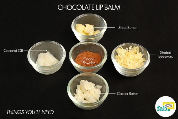 chocolate diy lip balm