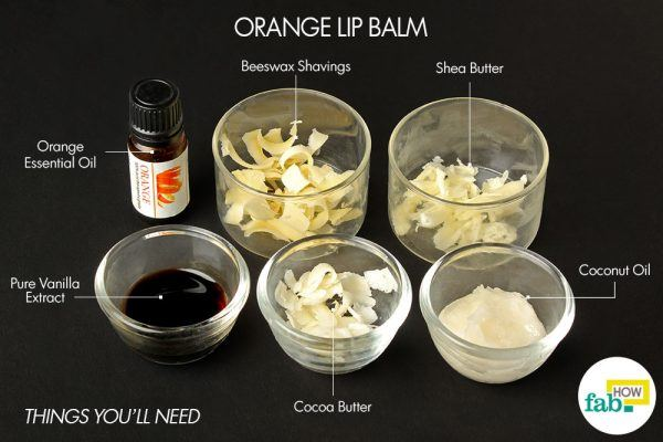orange diy lip balm things need
