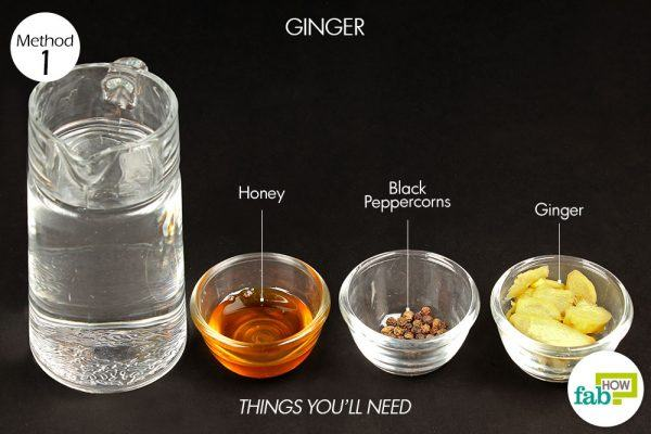 ginger to treat phlegm