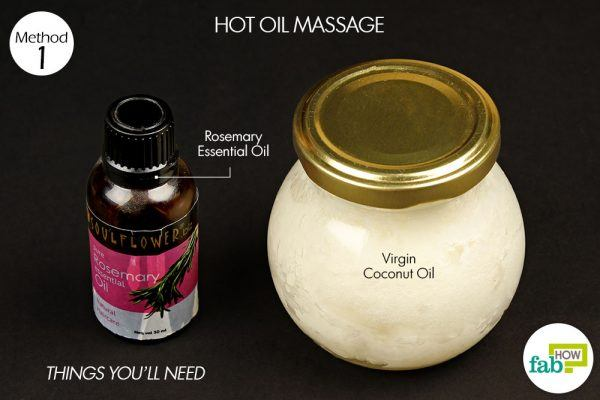 coconut oil rosemary essential oil to stop hair loss