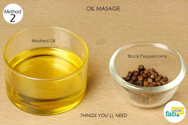 oil massage to get rid of chilblains