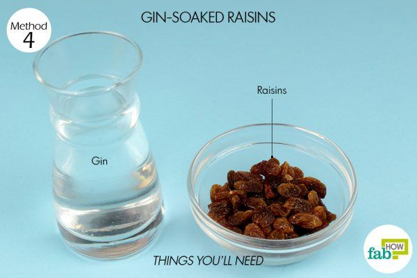 gin soaked raisins for arthritis
