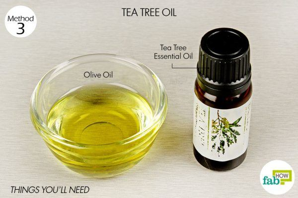 tea tree oil and olive oil to treat shingles