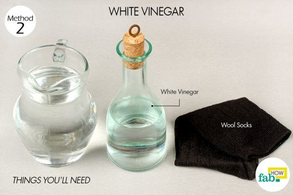 white vinegar to reduce fever things need