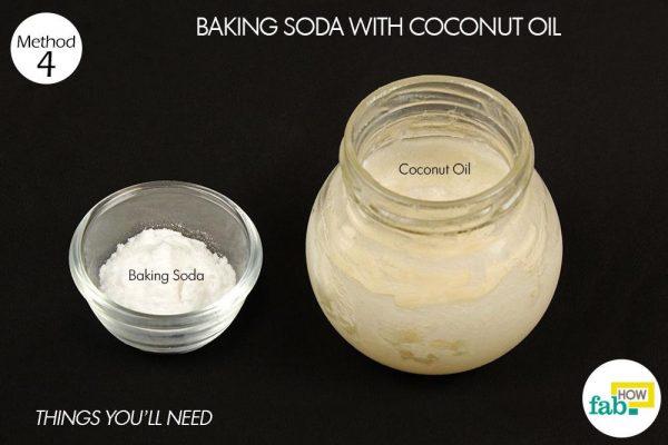 baking soda coconut oil teeth whitening