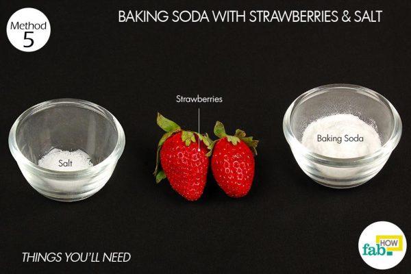 strawberry teeth whitening