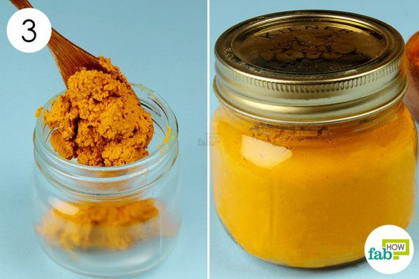 apply turmeric paste to treat arthritis