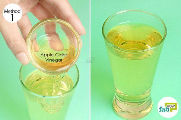 mix apple cider vinegar in water for acid reflux